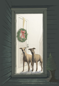 Maggies Whippets Card