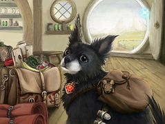 fantasy dog portrait