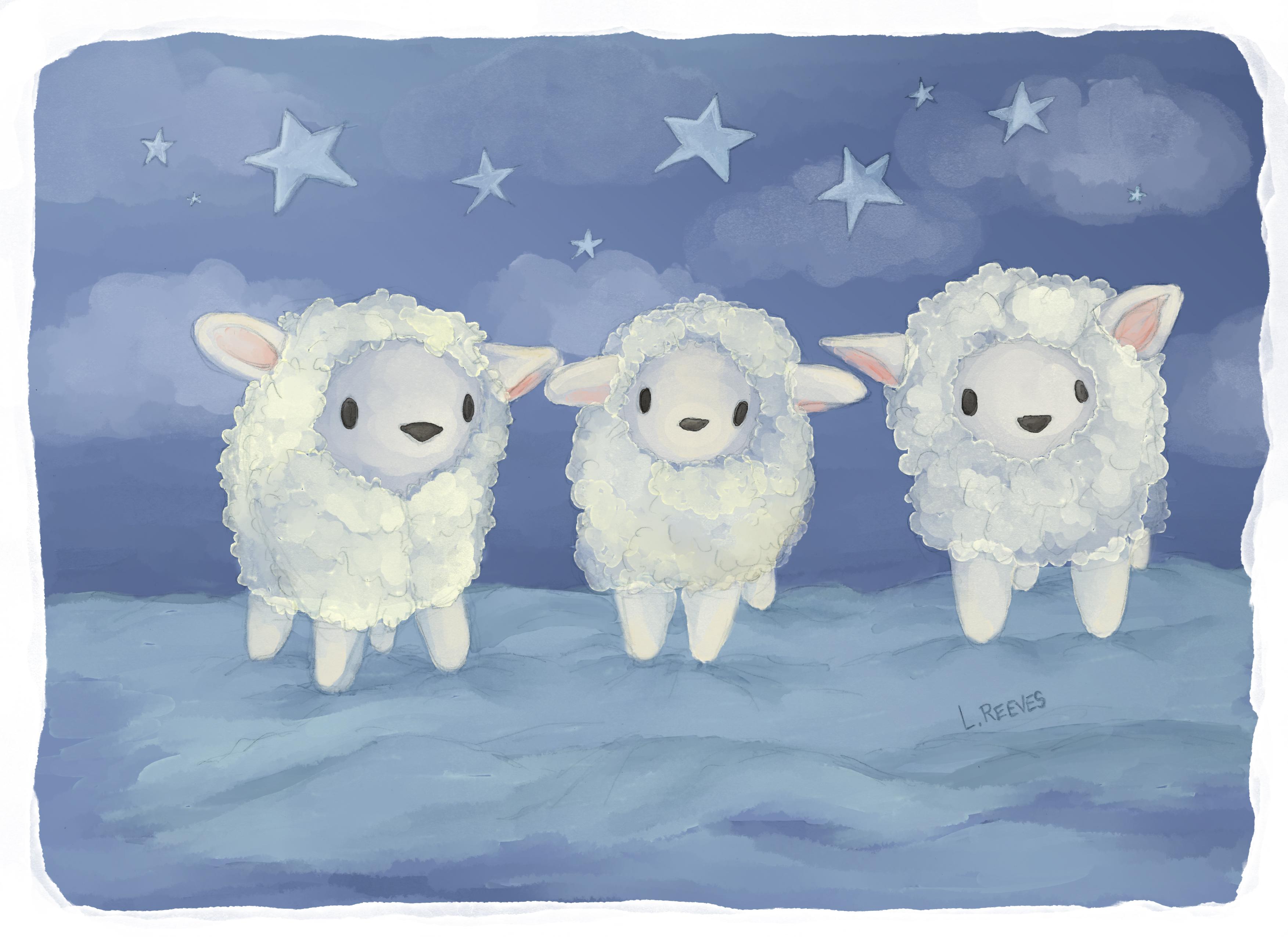 Fluffy Sheep trio