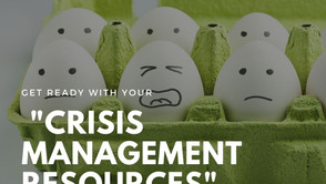 """Get Ready Your """"Crisis Management Resources"""" esp. during this period!"""