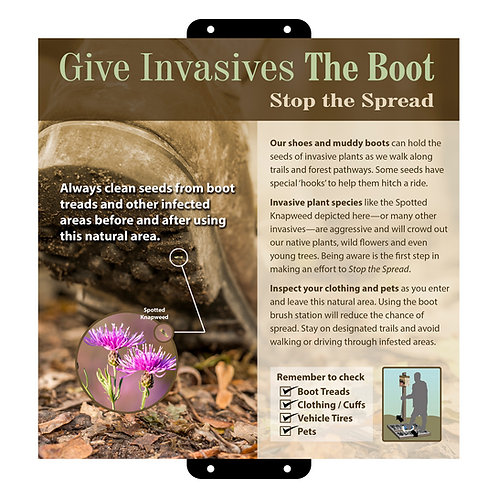 Give Invasives The Boot 11x11 in.