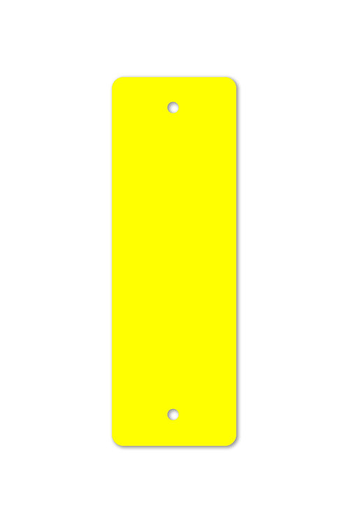Yellow Plastic Blaze Confidence Marker 2x6 in.