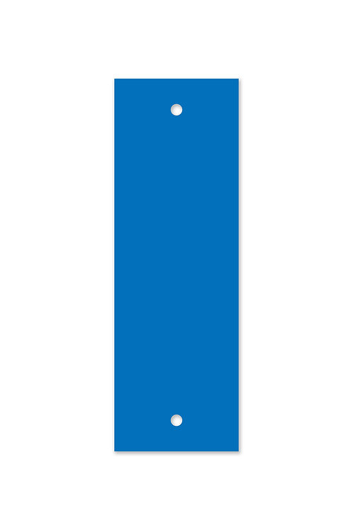Reflective Blue Blaze on Aluminum Confidence Marker 2x6 in.