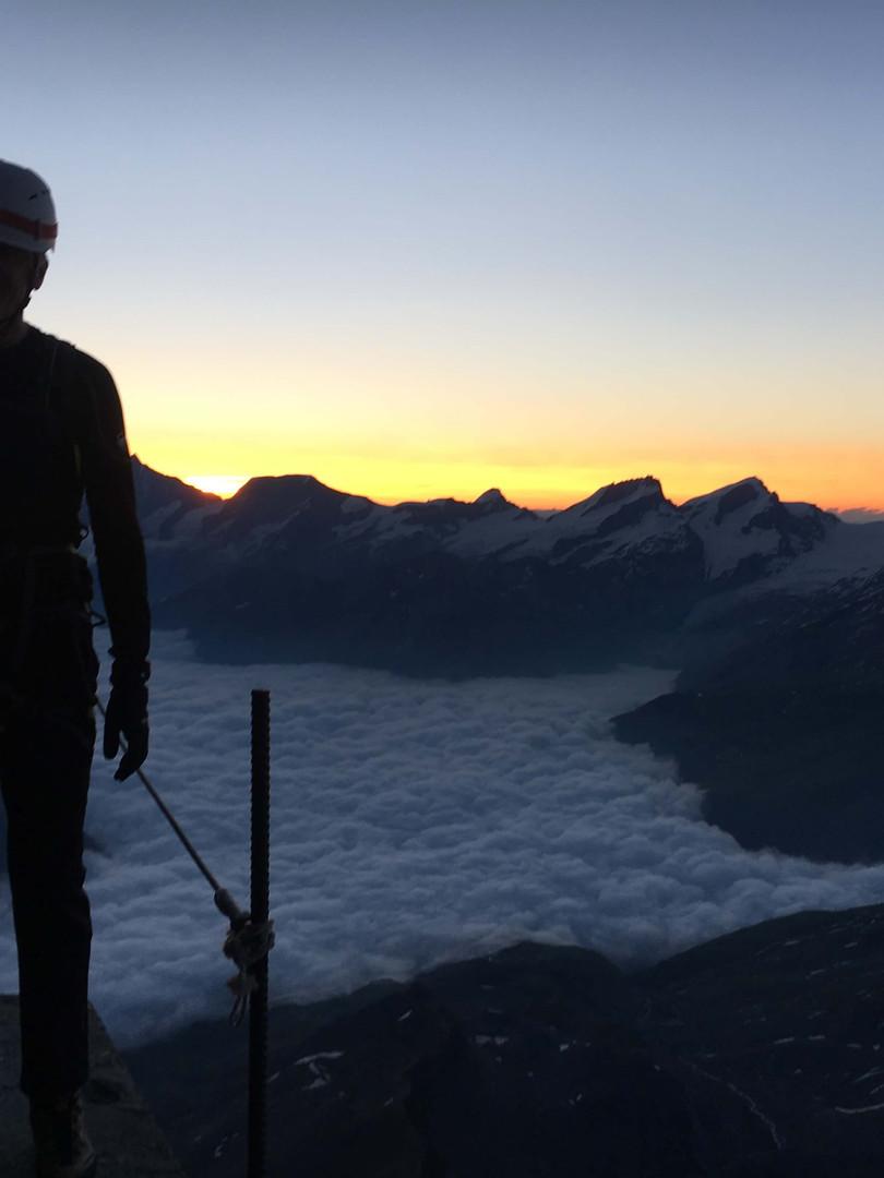 Aufstieg Matterhorn, Solvayhütte
