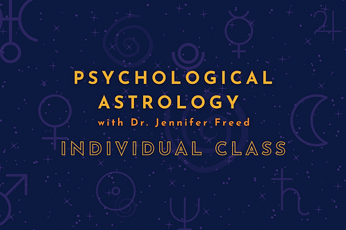 Psychological Astrology with Dr. Jennifer Freed - Individual Class