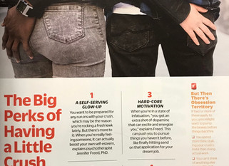 """""""The Big Perks of Having a Little Crush"""": Feature in Cosmopolitan Magazine"""