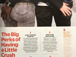 """The Big Perks of Having a Little Crush"": Feature in Cosmopolitan Magazine"