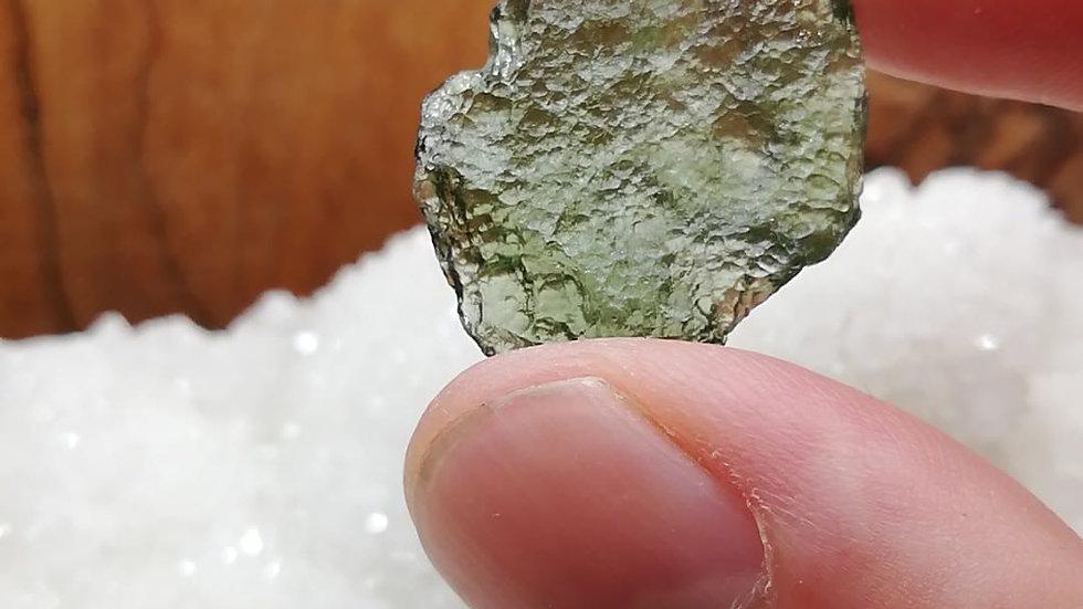 2.79g Vrabce Moldavite with slight damage