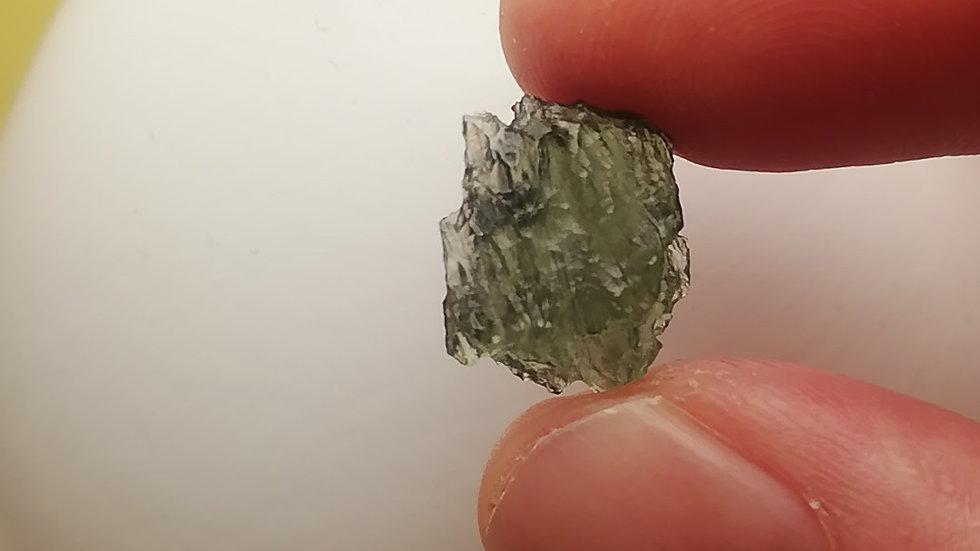 Beautiful 1.26 gram Undamaged A Grade Moldavite from Vrabce