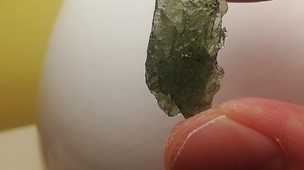 Beautiful 2.45 gram Undamaged A Grade Moldavite from Vrabce