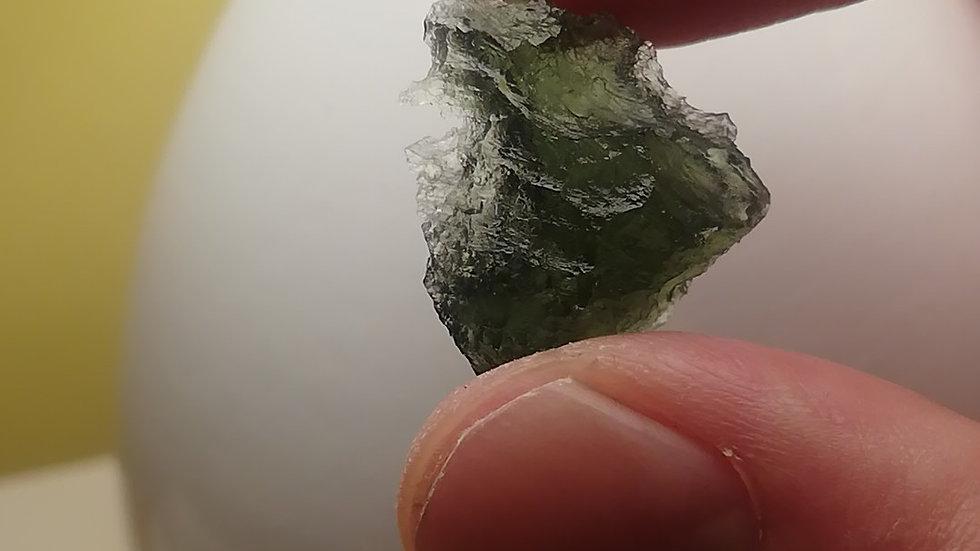 Beautiful 3.41 gram Undamaged A Grade Moldavite from Vrabce
