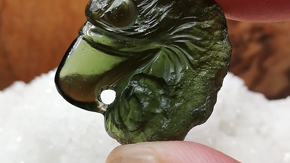 6.24g Moldavite Eagle Head Carving