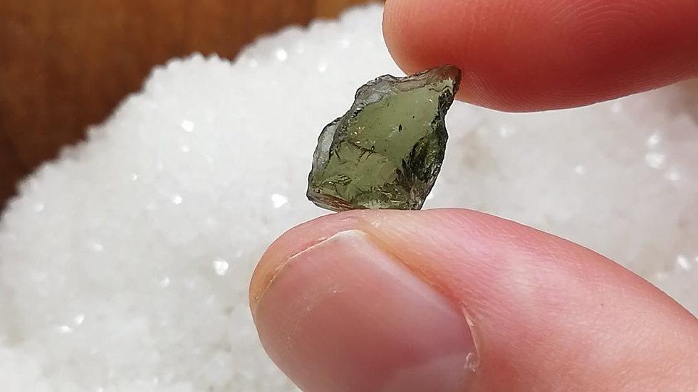 0.82g damaged moldavite