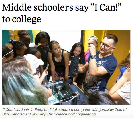 I Can! Program Featured in UB News Article