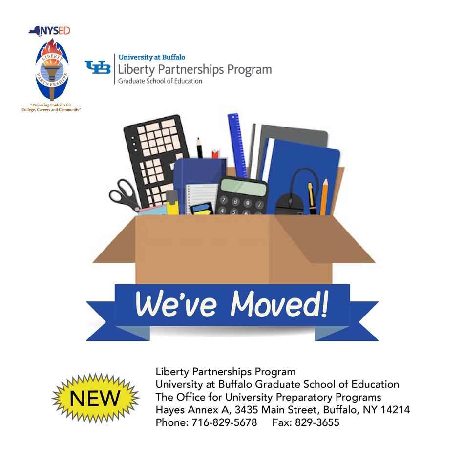 We've Moved to Hayes Annex A! (Still UB South Campus)