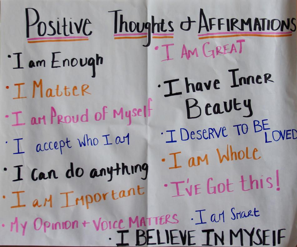 Girls Group Lesson: Positive Self Talk