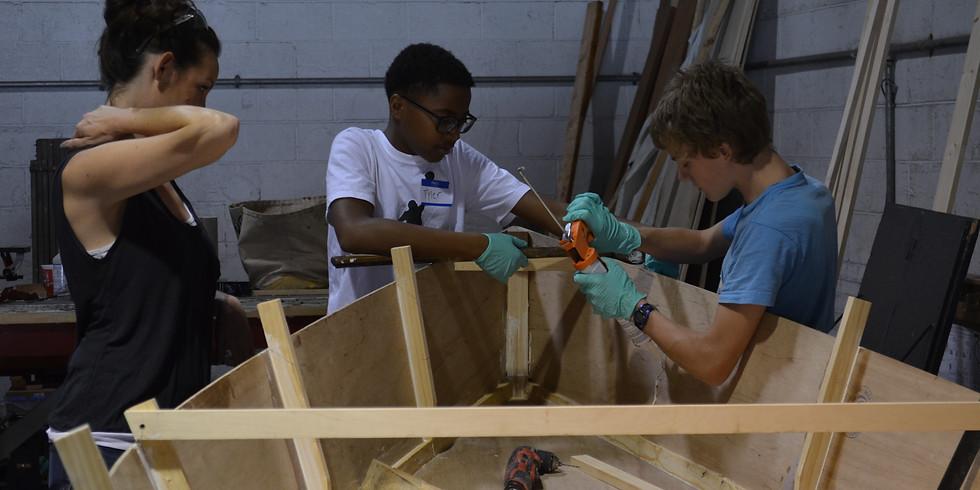 Summer Boat Building Class at Carpenter's Union Apprentice Training Center