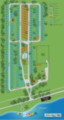 Island Retreat RV Park Site Map