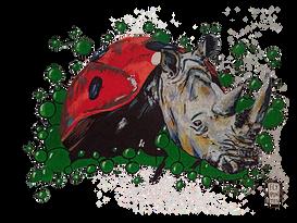 Joaninha-Rinoceronte Série de desenhos de animais fantásticos onde misturo a cabeça e o corpo de animais diferentes. Pintados com os marcadores One4all da Molotow. Tamanho:21cmx29,7cm  Para venda. Entre em contacto para detalhes. | For sale. Contact for details.  Rhinoceros Ladybug Series of drawings of fantastic animals where I mix the heads and bodies of different animals. Painted with Molotow's One4all markers. Size: 21cmx29.7cm