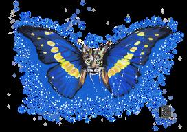 Lince-Ibérico-Borboleta Série de desenhos de animais com asas de borboleta. Pintados com os marcadores One4all da Molotow. Tamanho:42cmx29,7cm  Para venda. Entre em contacto para detalhes. | For sale. Contact for details.  Lynx-Butterfly Series of drawings of animals with butterfly wings. Painted with Molotow's One4all markers. Size: 42cmx29.7cm