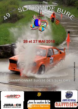 Affiche Slalom de Bure 2018