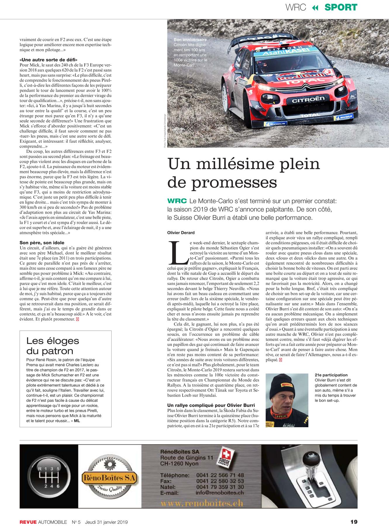 Revue Automobile N° 5/2019