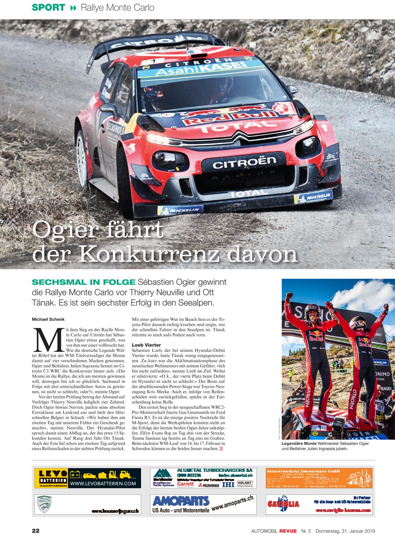 Automobil Revue N° 5/2019