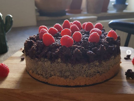 Mini-Himbeer-Mohn-Torte