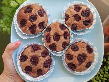 Kirsch-Muffins (vegan, glutenfrei)