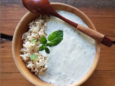 Vollkorn Basmati Reis mit veganer Minzsoße