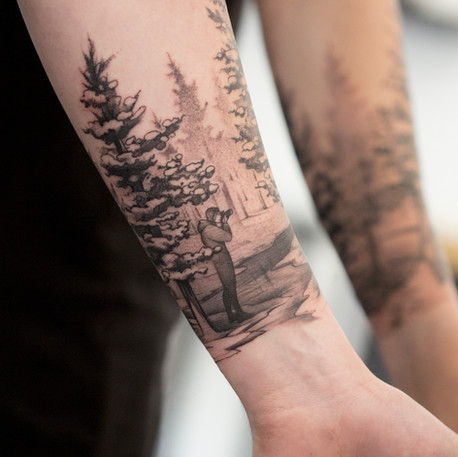 Šumava forest half sleeve by Alba