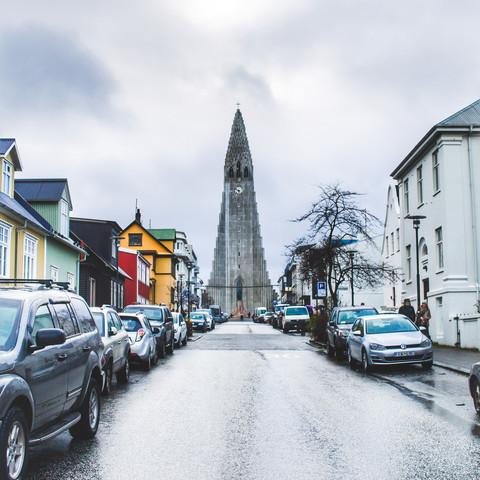 """Street in Reykjavik"""