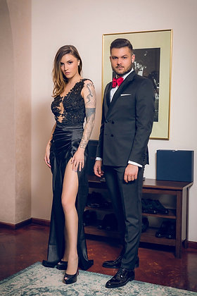 Costum Black Tie Double Breasted