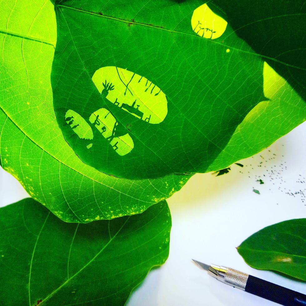 Leaves cutout 1