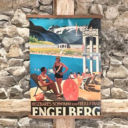 Schwimmbad Nostalgie Poster