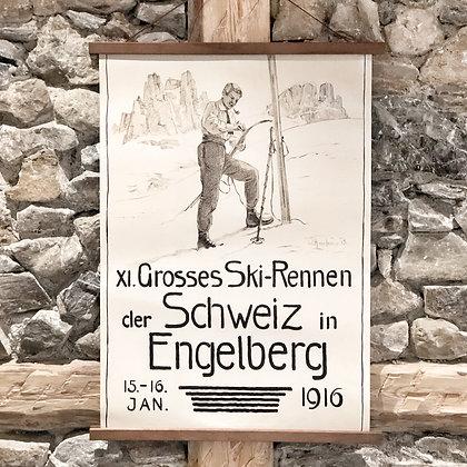 Ski-Rennen 1916 Nostalgie Poster