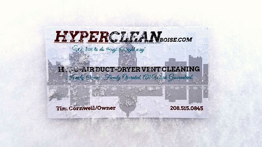 hyperclean air duct and dryer vent cleaning business card