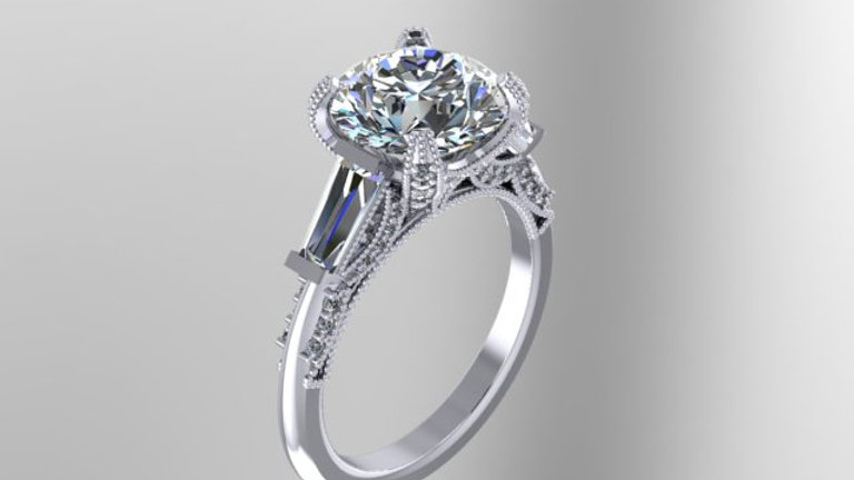 Arabesque cathedral ring