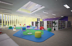 Sala de leitura infantil