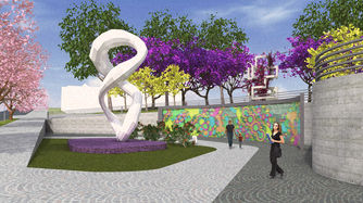 Praça das Artes - Painel Digital