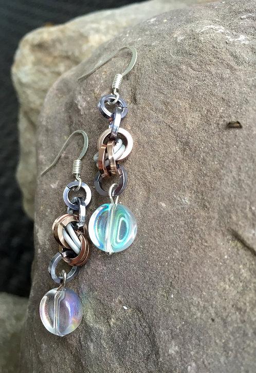 Chainmail Beaded Earrings