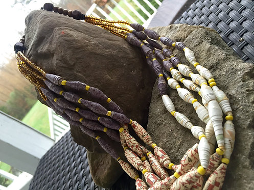 Chunky Paper Bead Necklace