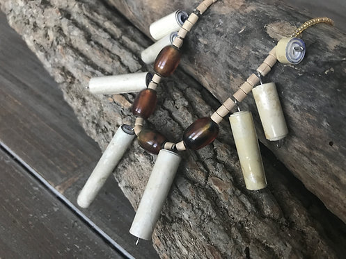 Cylindrical Paper Bead Necklaces