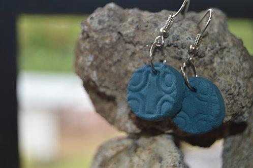Copper Clay Bead Dangle Earrings