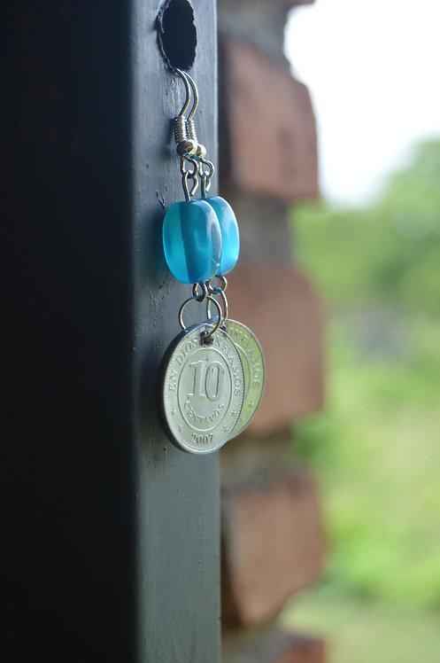 Nicaraguan Coin Hook Earrings