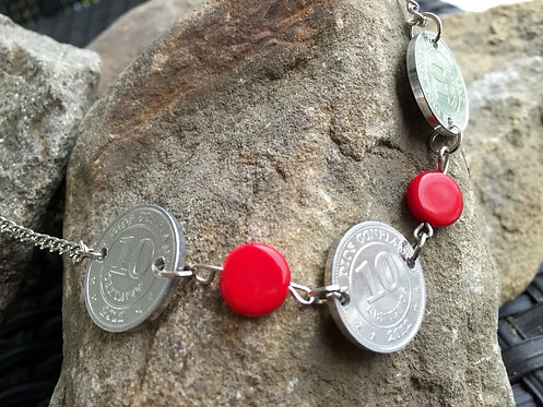Red Coin Necklace