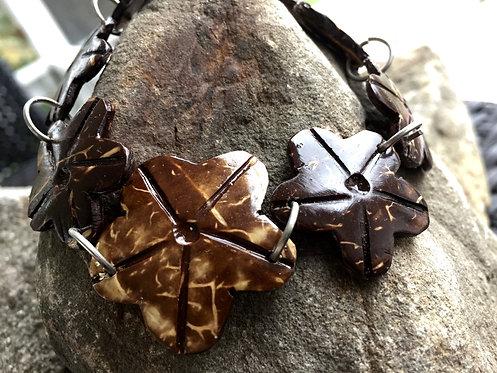 Coconut Shell Flower Bracelet