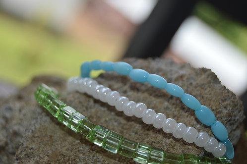 Tri Strand Beaded Bracelets