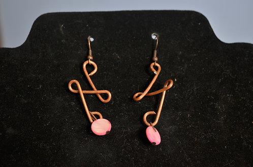 Copper/Bead Earrings