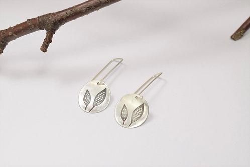 Ana Herranz Jewellery | Long double leaf earrings